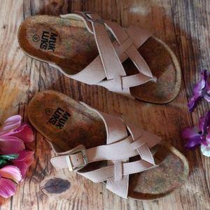 NWOT Muk Luks size 8 dusty rose pink sandals
